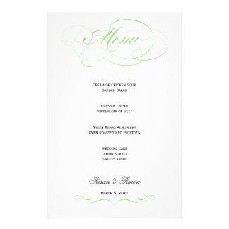 Elegant Script  Wedding Menu - Mint Stationery Paper