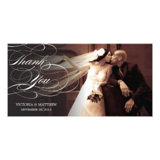 ELEGANT SCRIPT | WEDDING THANK YOU PHOTO CARD