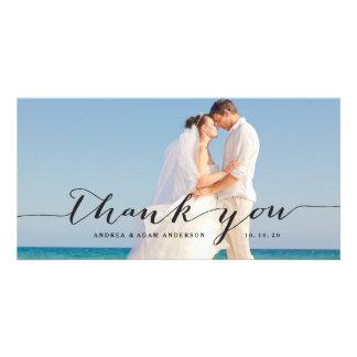 Elegant Script | Wedding Thank You Photo Card