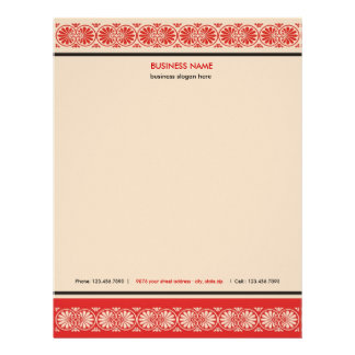 Elegant Scroll Border Business Letterhead