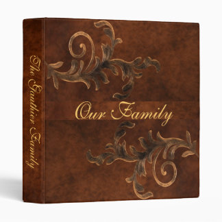 Elegant Scroll Leaf Faux Leather Family Album Vinyl Binders