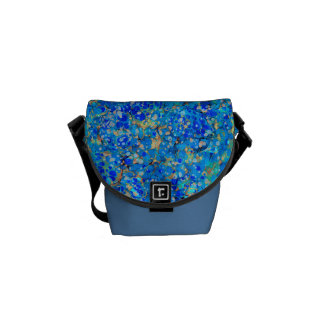 Elegant sea blue beautiful pattern commuter bags