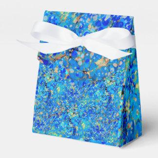 Elegant sea blue beautiful pattern favor box