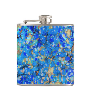 Elegant sea blue beautiful pattern flasks