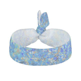 Elegant sea blue beautiful pattern hair tie