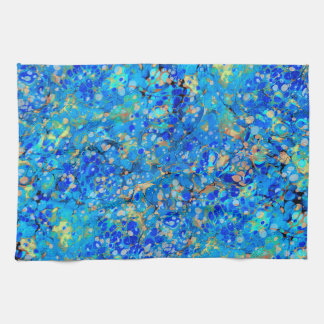 Elegant sea blue beautiful pattern kitchen towel