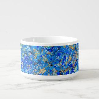 Elegant sea blue beautiful pattern with lace bowl