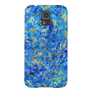 Elegant sea blue beautiful pattern with lace case for galaxy s5