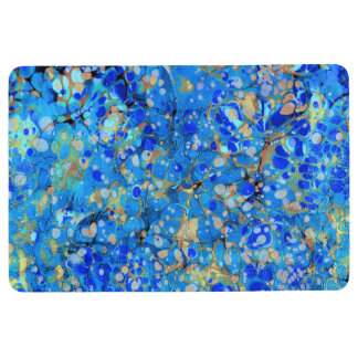 Elegant sea blue beautiful pattern with lace floor mat