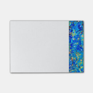 Elegant sea blue beautiful pattern with lace post-it® notes