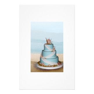 Elegant Sea Shell Wedding cake Full Colour Flyer