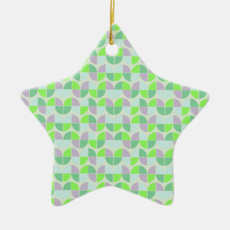 Elegant Seamless Pattern Ceramic Star Ornament