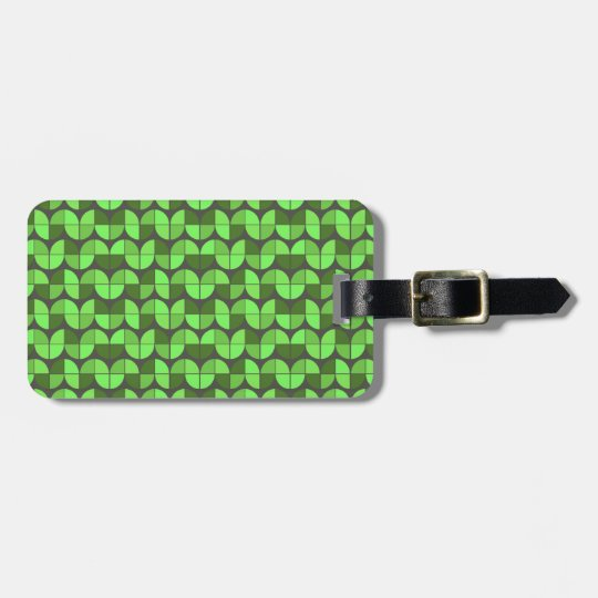 Elegant Seamless Pattern Luggage Tag
