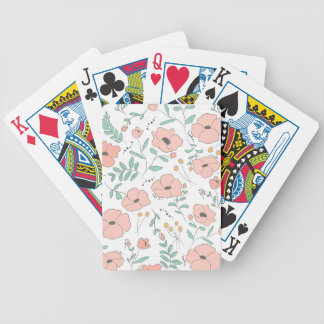 Elegant seamless pattern with flowers, vector illu bicycle playing cards