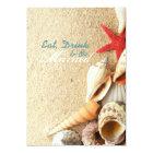 elegant  seashells beach wedding rehearsal dinner card