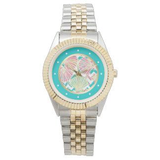 Elegant Seashells Chevron Watch