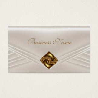 Elegant Sepia Beige Amber Jewel Business Card