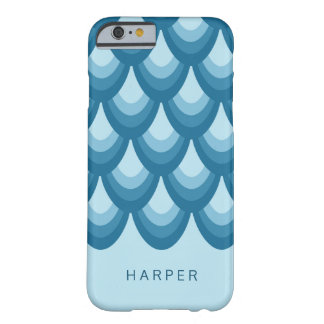 Elegant Shades of Blue Geometric Barely There iPhone 6 Case