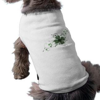 Elegant Shamrock Design Pet Shirt