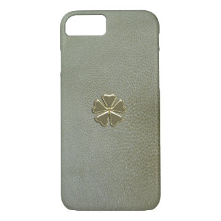 Elegant  Shamrock St.Patrick`s Day,Green Leather iPhone 8/7 Case