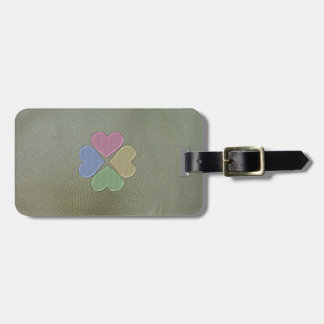 Elegant  Shamrock St.Patrick`s Day,Green Leather Luggage Tag