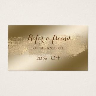 Elegant ,Shiny,Brush Stroke   Referral Card