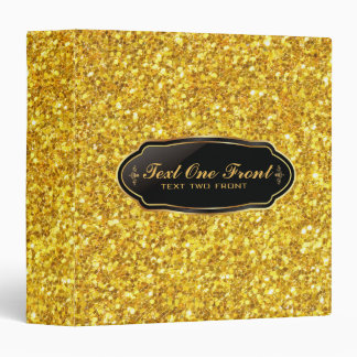 Elegant Shiny Gold Glitter Binder