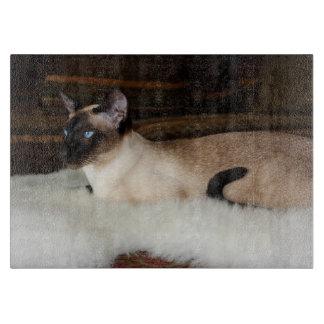 Elegant Siamese Cat Cutting Board