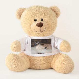 Elegant Siamese Cat Teddy Bear