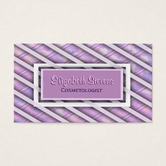 Elegant Silk Ribbon Weave Business Card