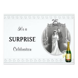 Elegant Silver 25th Anniversary Party invitations