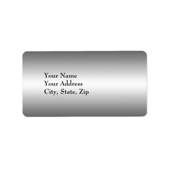 Elegant silver Address Label