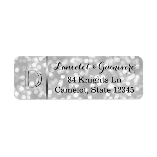 Elegant Silver Bokeh Custom Wedding Monogram