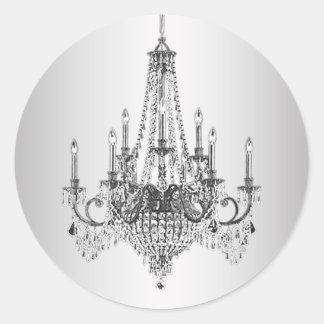 Elegant Silver Chandelier Stickers