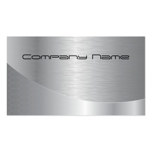 Elegant Silver Corporate Business Card