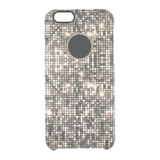 Elegant Silver Disco Glitter &  Background GR2 Clear iPhone 6/6S Case