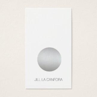 Elegant Silver Dot Business Card