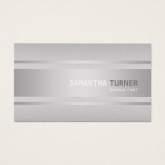 Elegant Silver Faux Textured Professional Custom Business Card
