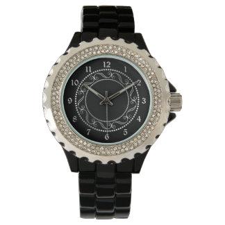 Elegant Silver Filigree Circle Wrist Watch