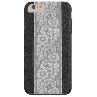 Elegant Silver Florentine Scrolls Tough iPhone 6 Plus Case