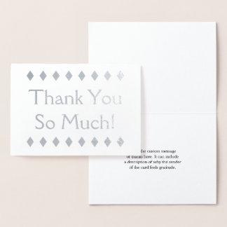 "Elegant Silver Foil ""Thank You So Much!"" Card"