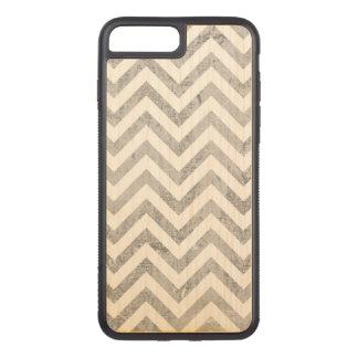 Elegant Silver Foil Zigzag Stripes Chevron Pattern Carved iPhone 8 Plus/7 Plus Case