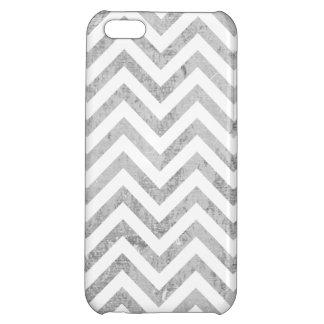 Elegant Silver Foil Zigzag Stripes Chevron Pattern Case For iPhone 5C
