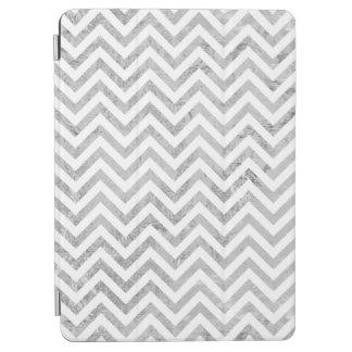 Elegant Silver Foil Zigzag Stripes Chevron Pattern iPad Air Cover