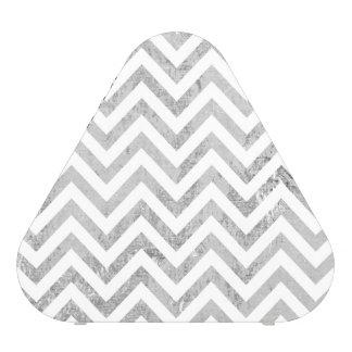 Elegant Silver Foil Zigzag Stripes Chevron Pattern Speaker