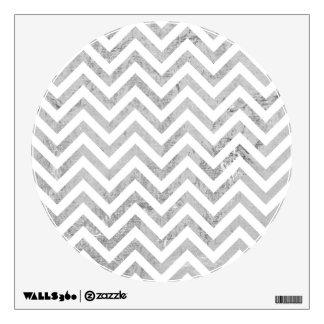 Elegant Silver Foil Zigzag Stripes Chevron Pattern Wall Sticker
