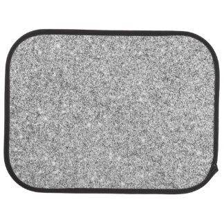 Elegant Silver Glitter Car Mat