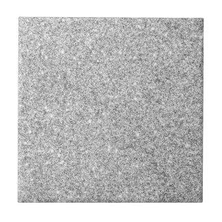 Elegant Silver Glitter Ceramic Tiles