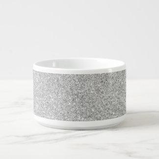 Elegant Silver Glitter Chili Bowl