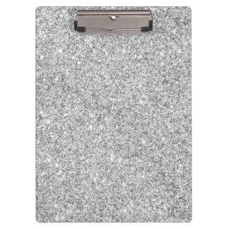 Elegant Silver Glitter Clipboards